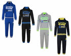 KIDS TRACKSUIT BOYS JOG SET SPORTING 2PC HOODED TOP & JOGGERS BNWT
