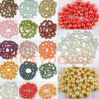 7-8mm Colors Oval Fresh Water Pearl Top Drilled Loose Freeform DIY Beads Various