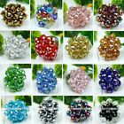 Mixcolor Faceted Crystal Glass Bead Flower Style Adjustable Finger Ring 1x Nice