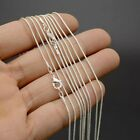 5pcs Wholesale Silver 1mm Snake Chain Necklace For Pendant Jewelry Accessories