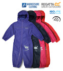 REGATTA CHILDRENS PUDDLE RAIN SUIT WATERPROOF BREATHABLE ALL IN ONE CHILD SUIT