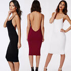Sexy Women Backless Sleeveless Cocktail Party Evening Bandage Bodycon Mini Dress