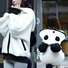 Extra Large  Ball-shaped Tail Panda Ears Women's Plus Size Hoodie Outwear Sweats