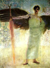 Classic Symbolist angel art print: Guardian of Paradise by ranz von Stuck