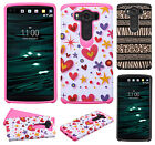 For LG V10 HARD Hybrid Rubber Silicone Case Phone Cover Accessory + Screen Guard
