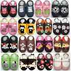minishoezoo soft sole leather baby slippers indoor toddler house kids shoes