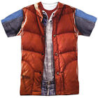 Back to the Future 80 SyFy Marty's Red Vest Costume Adult 2-Sided Print T-Shirt