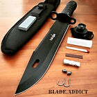 """15"""" Tactical Hunting Rambo Fixed Blade Knife Machete Bowie w/ Survival Kit"""
