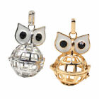 1 Pc Gold Silver Chime Hollow Owl Mexican Bola Locket Pendant Harmony Pendant