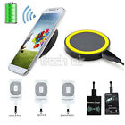 Qi Wireless Charging Charger Pad + Receiver Kit For iPhone 5 6 Micro-USB Android