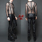 LIP SERVICE SUSPENDERS PVC HARNESS FETISH JEANS VEGAN LEATHER GOTHIC PUNK PANTS