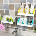 Suction Cup Kitchen Sink Holder Tray Bathroom Storage Shelf Rack Organiser Hook