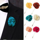 Hot 1X Nice Lapel Flower Rose Boutonniere Stick Brooch Pin Men's Accessories TB