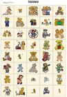 TEDDIES. CD or USB machine embroidery designs files most formats pes jef hus