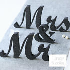 Black Mr and Mrs Letters Sign Freestanding Wedding Gift Sweetheart Table Decor