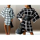 Winter Women's Fashion Bottoming Slim Long-sleeved Checkered Printed Dress DJNG