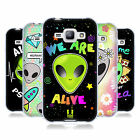 HEAD CASE DESIGNS EMOJII ALIENI COVER MORBIDA IN GEL PER SAMSUNG TELEFONI 4