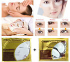 1/5/10 PCS Skin Care Collagen Essence Facial Mask & Dark Circle Gel Eye Mask Bag