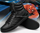Men's High Top Snow Boots Casual Flat Heel Warm Fur Lined Winter Shoes Black Sz