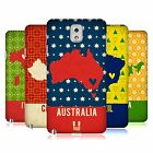 HEAD CASE DESIGNS PRINTED COUNTRY MAPS HARD BACK CASE FOR SAMSUNG PHONES 2