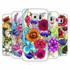 HEAD CASE DESIGNS WATERCOLOURED FLOWERS HARD BACK CASE FOR SAMSUNG PHONES 1