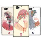 HEAD CASE DESIGNS RAINBOW BRAIDS HARD BACK CASE FOR SONY PHONES 4