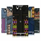 HEAD CASE DESIGNS TRIBAL PRINTED DENIM HARD BACK CASE FOR SONY PHONES 3