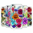 HEAD CASE DESIGNS WATERCOLOURED FLOWERS SOFT GEL CASE FOR APPLE iPHONE PHONES