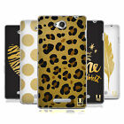 HEAD CASE DESIGNS GRAND AS GOLD SOFT GEL CASE FOR SONY PHONES 3