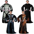 Licensed Star Wars Darth Vader Chewbacca Force Awakens Comfy Snuggie Full body