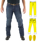 Mens Blue Motorcycle Protective Jeans Fully Lined Level 1 Protection + CE Armour