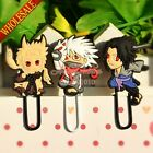 Hot 3pcs/set Naruto Cartoon Bookmarks,Paper clips,School Office Supplies Gifts