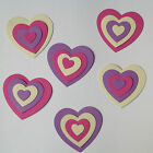 Heart Stacking Card Toppers - 6 x 4 piece sets, various colours