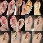 Fashion Crystal Clip Ear Cuff Stud Women's  Punk Wrap Cartilage Earring Jewelry image