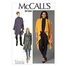 McCall's 7262 Sewing Pattern to MAKE Misses & Plus Size Sweater Coats & Poncho