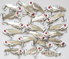 Lot Silvery Metal VIB Fishing Lures Bass Crankbaits Treble hooks  5.5cm 3.5cm