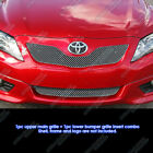 Fits+2010%2D2011+Toyota+Camry+SE+Stainless+Steel+X+Mesh+Grille+Combo