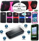 NP ARMOR Tempered Glass Screen Protector and Case Cover For LG Phone Model