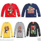 Boys SUPER MARIO Long Sleeve T-Shirt Top 10  Years