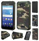 For Kyocera Hydro Air C6745 Rubber IMPACT TRI HYBRID Case Skin Phone Cover
