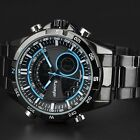 INFANTRY Aviatior Men Sport Luminous Army Analog Digital Date Quartz Wirst Watch