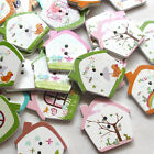 New 10/50/100/500pcs House Wood Round Buttons 25mm Sewing Craft T0808