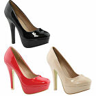 BELLA MARIE LUCIA-2 Women's Shiny Platform High Stiletto Pump Pary Shoes