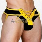 Men's Athletic Fancy Supporter Jock Strap Sports Underwear Lace Up Briefs Thongs