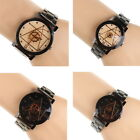 Beauty Unisex Watches Compass Stainless Steel Quartz Analog Wrist Watch Casual