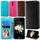 For LG K7 / Tribute 5 Premium Wallet Case Pouch Flap STAND Cover +Screen Guard