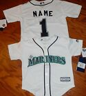 Seattle Mariners Cool Base MLB Majestic Kids 4 7 Replica Jersey add name number