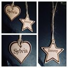 PERSONALISED HEART / STAR NAME UNIQUE SCHOOL BAGS GIFT TAGS XMAS