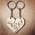 Personalised 'Love Heart' Wooden Keyrings Valentine's Day Wedding Gift