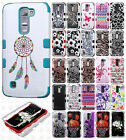 For LG K7 / Tribute 5 IMPACT TUFF HYBRID Protector Case Cover +Screen Protector